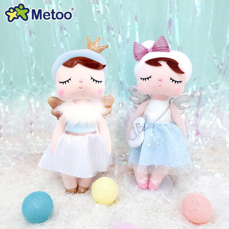 Оригинальные куклы Metoo Dolls Фаршированные игрушки для девочек Baby Красивый лебедь Ангел Анжела Мягкие плюшевые животные для детей младенца новейшие L0308