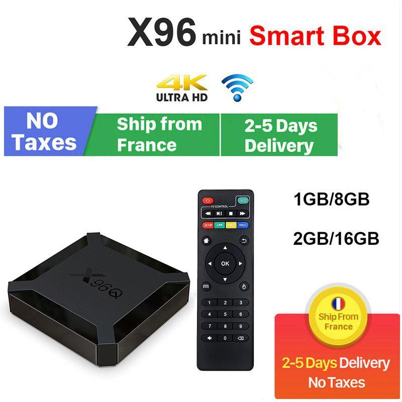 X96Q TV Boîte Android 10.0 Allwinner H313 2GB 16 Go WiFi Construction 4K Média Player Stock France