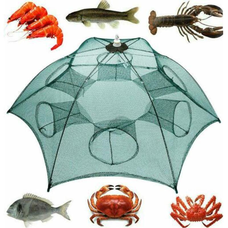 Balıkçılık Aksesuarları Katlanır Net Karides Kafes Katlanabilir Yengeç Balık Tuzağı