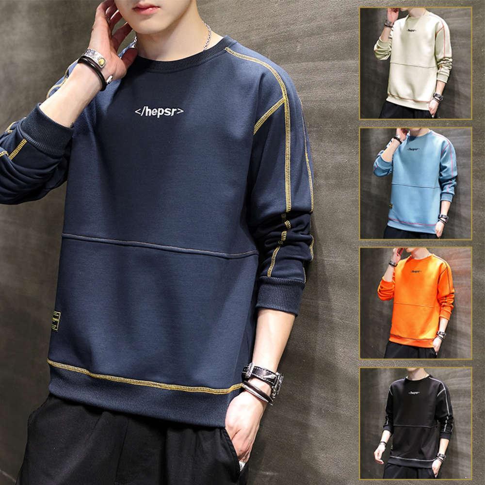 2021 Men's Primavera e Autumn New Fashion Brand Weiyi Uomo da uomo Abbigliamento da uomo Versione coreana Top Bottom Shirt Giovani studenti con cappuccio