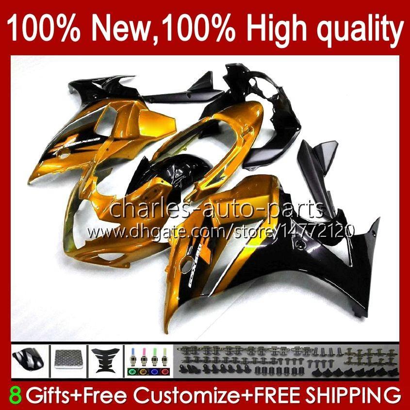 Kropp för Suzuki Katana GSXF 650 GSXF650 GSX650F Golden Glossy BodyWorks 18HC.91 GSX-650F 2008 2009 2010 2011 2012 2013 2014 GSX 650F GSXF-650 08 09 10 11 12 13 14 FAIRING