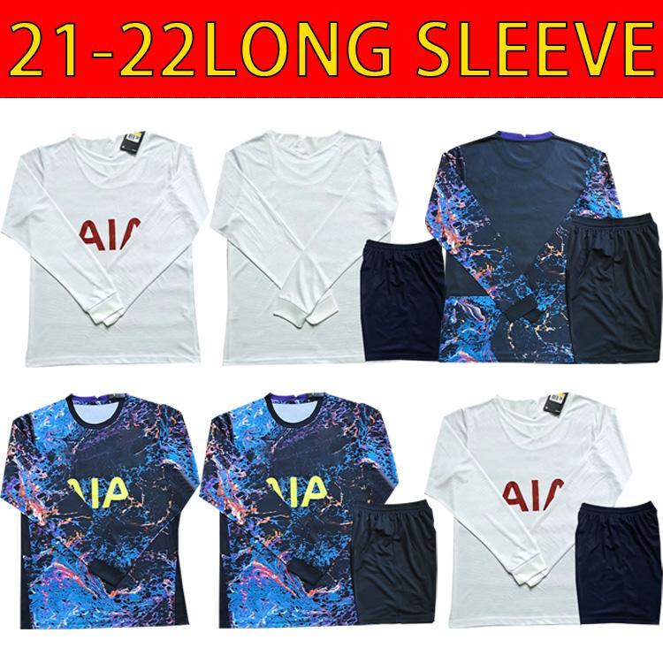 21 22 Kane Son Bale Bergwijn Tottenham Dele Soccer Jerseys 2021 2022 Lucas Football Ndombele Vinicius Tops Men Manga Larga Uniforme