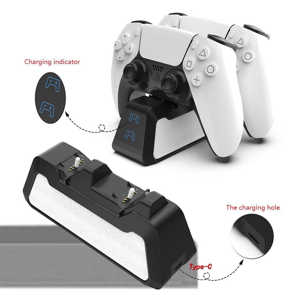 2021 PS5 Charging Dock PS5 Gamepad Carregador Dual Port Charging Dock Dock Controladores Acessórios e O Suporte