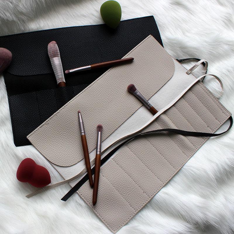 Kosmetische Taschen Hüllen 11 Taschen Make-up Bürstenhalter Fall Tasche Reise Beruf Pinsel Organizer PU Leder