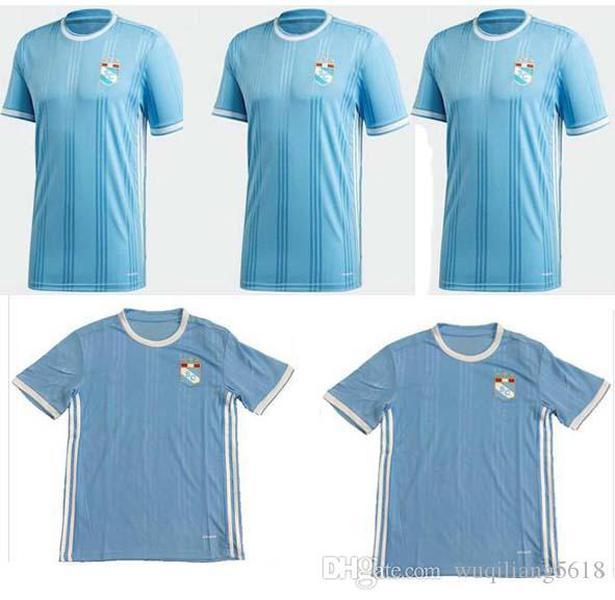 Nuevo 2020 Sporting Cristal Soccer Jerseys 2020 Sporting Cristal Home Manga corta Hombre Camisa de fútbol Maillots de fútbol uniforme
