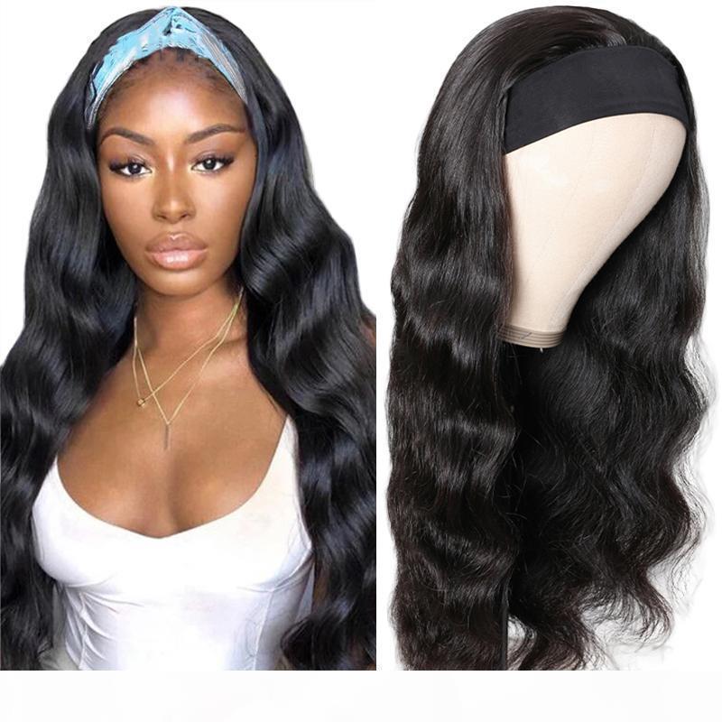 Body onda headband peruca peruca de cabelo humano com headband brasileiro wigs wigs cabelo humano para mulheres faixa principal