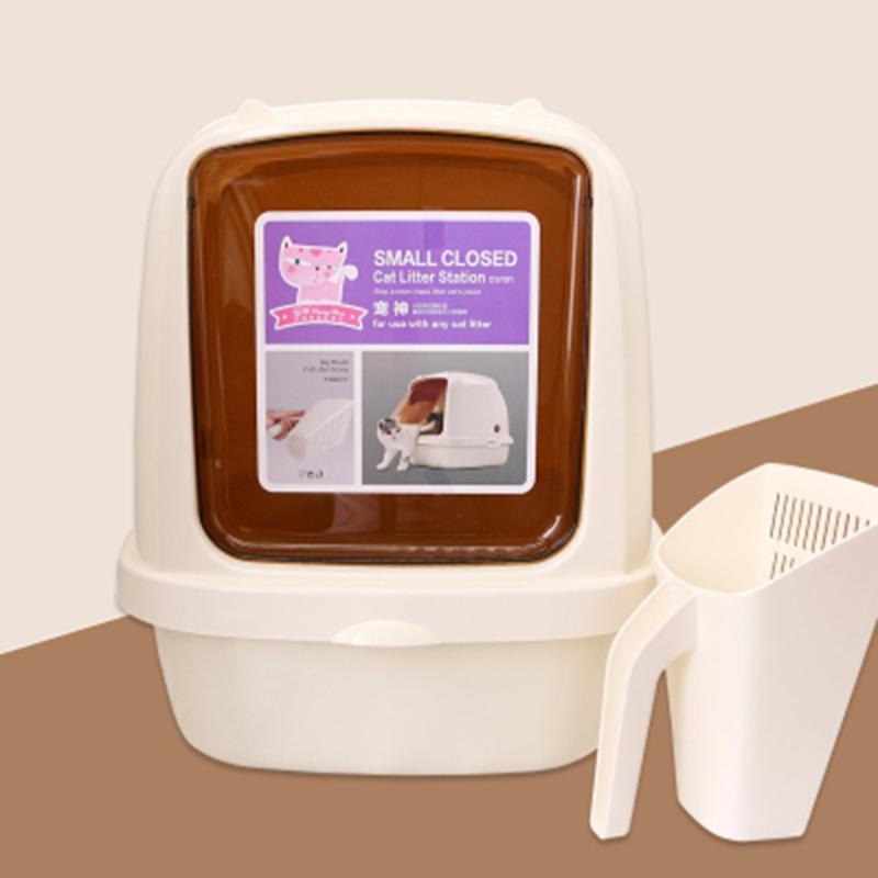 Diğer Kedi Malzemeleri Mobilya Pet Büyük Çöp Kutusu Cutecorner Tuvalet Kendinden Temizleme Eğitim Seti Ürünleri WC Sandbox Gato Bedpans BY50MS