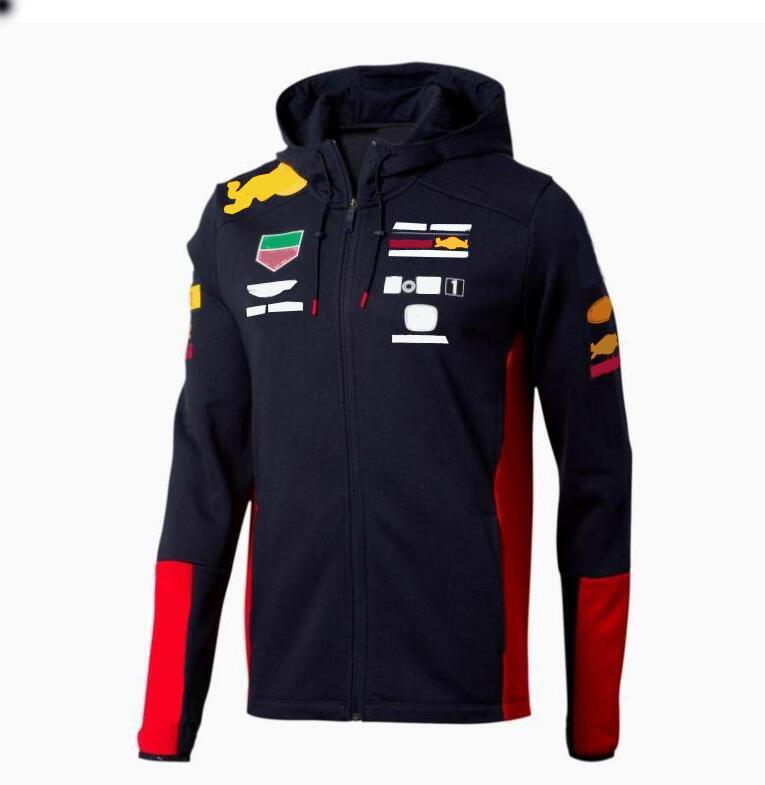 Felfisht F1 Formula Racing Felpa ben noto Team 2021 Full Zipper con cappuccio Felpa con cappuccio Moto Abito da equitazione Vuoto Giacca antivento con lo stesso stile