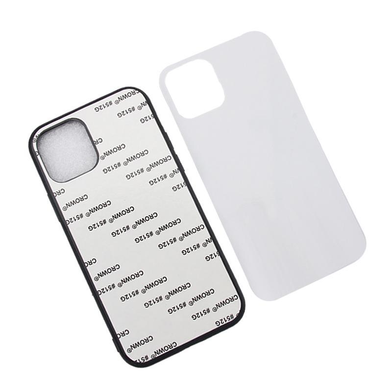 Blank 2d Sublimation Telefono Custodia per iPhone 12 11 Pro Max XS XR XS Max TPU Bumper Bumper in alluminio Stampa Blank Cover posteriore