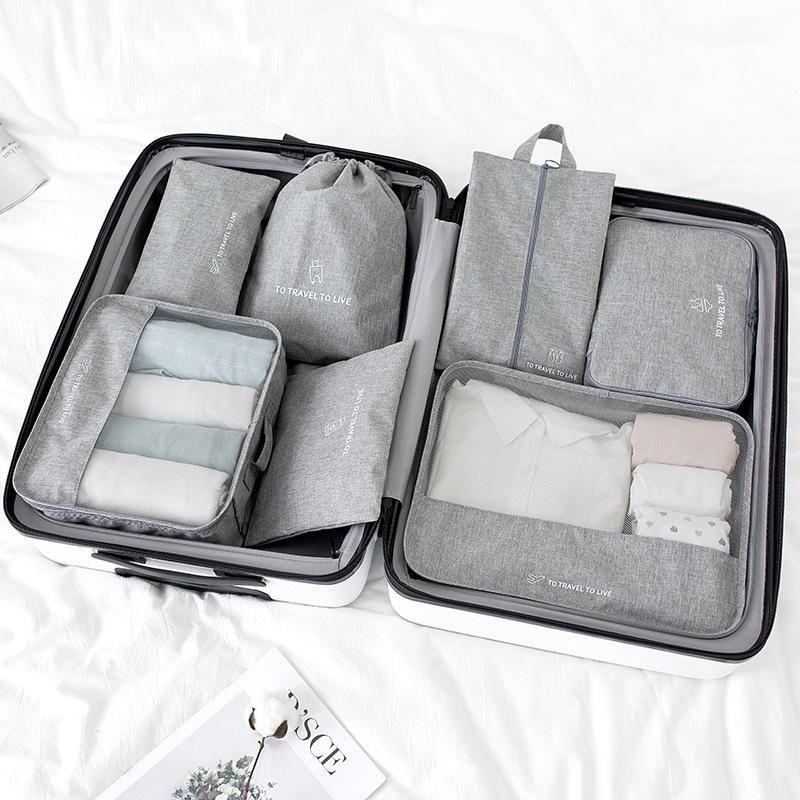 Bilgisayar Seyahat Saklama Çantası Seti Giysi Düzenli Organizatör Dolap Bavul Kutusu Seyahat Organizatör Ayakkabı, Paketleme Küp Çanta 6 Parça