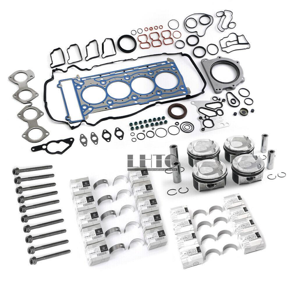 Engine Overhaul Pistons Gasket Kit For Mercedes-Benz C200 CGI W204 W212 M271 1.8