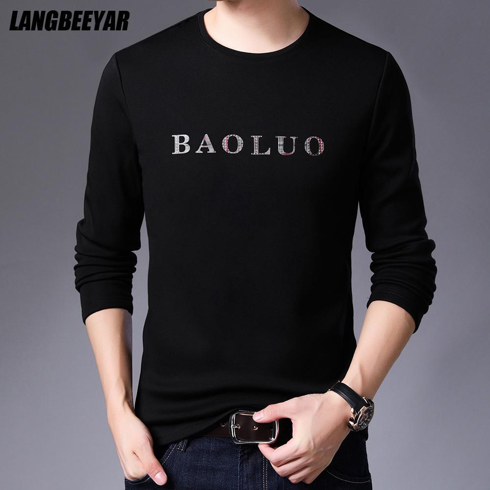 2021 Nouveau Top Qualité Mode Marque Chaud Soliti à Cold T-shirt pour Coton Designer à manches longues Hommes Casual Hommes Vêtements