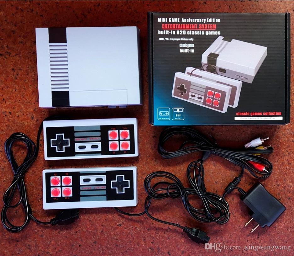 مصغرة تلفزيون يمكن تخزين 620 500 لعبة وحدة التحكم باليد المحمولة لألعاب ألعاب NES مع صناديق البيع بالتجزئة جودة مصنع