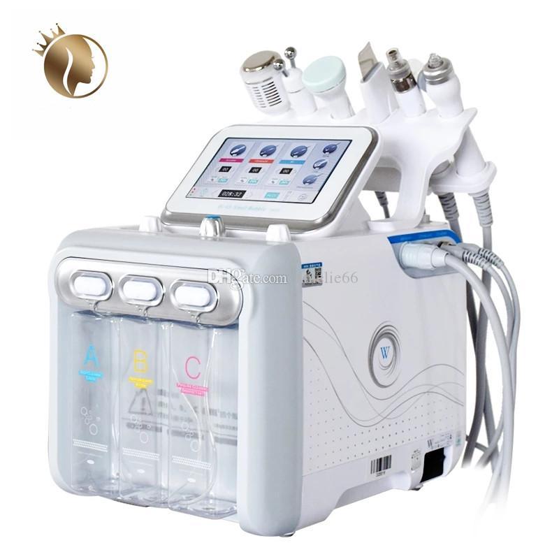 Yeni 6 In1 Hidrakacial Cilt Bakımı Yüz Temizleyici Hidro Peeling H2 02 Cilt Gençleştirme Yüz Germe Siyah Nokta Remover Dermabrazyon Makinesi