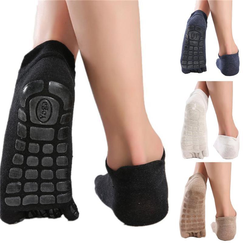 Men's Socks Men Five Fingers Winter Non Slip Grip Fitness Toe Low Calf Slipper Male Warm Floor