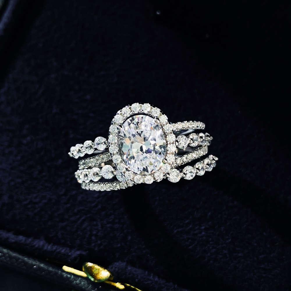 HBP Fashion 2021 Venda Quente S925 Anel de Prata Sterling para Mulheres Elegantes de Mulheres com Zircon Inlay