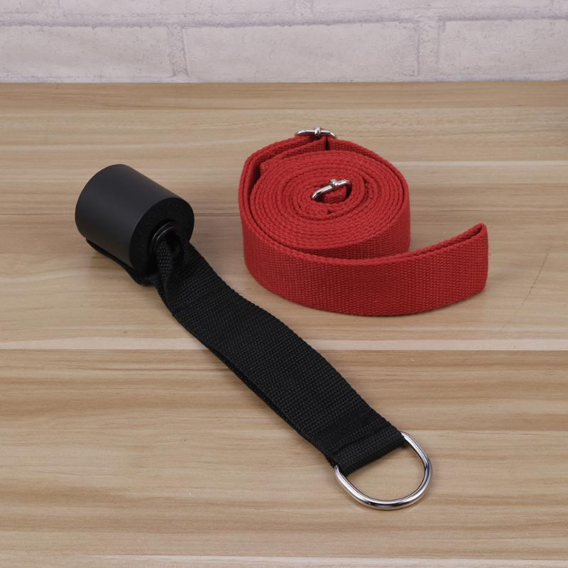 Durable Yoga Strap Cotton Exercise Straps for Yoga Stretching General Fitness (Red)