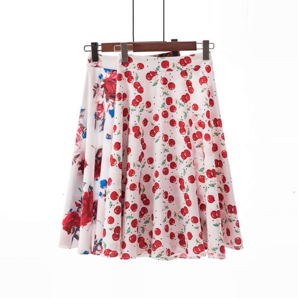 2021 jupe Jupe courte pour femme Printemps et hém-jupe plissés à la mode numérique