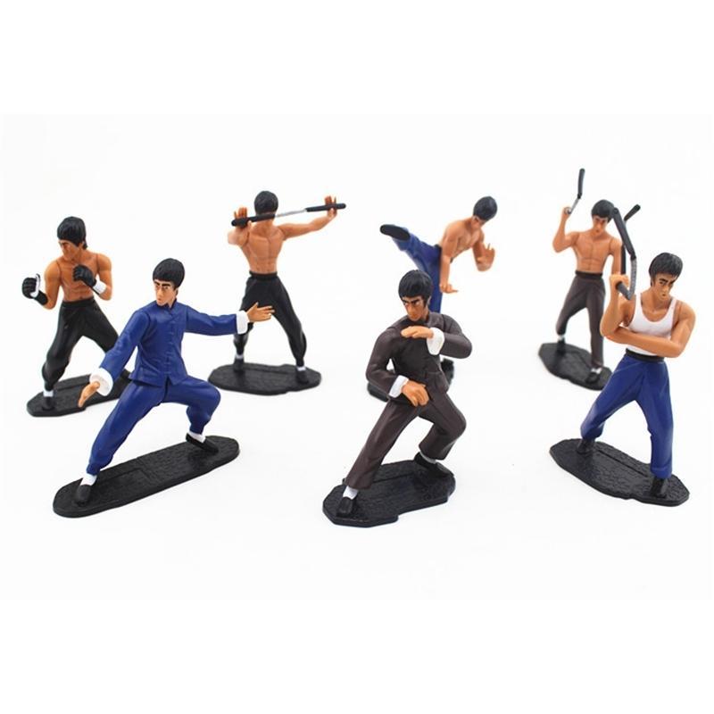 Giapponese Dydo Bruce Lee Kung Fu Azione Modellazione Modello Doll Model Decorazione auto a mano