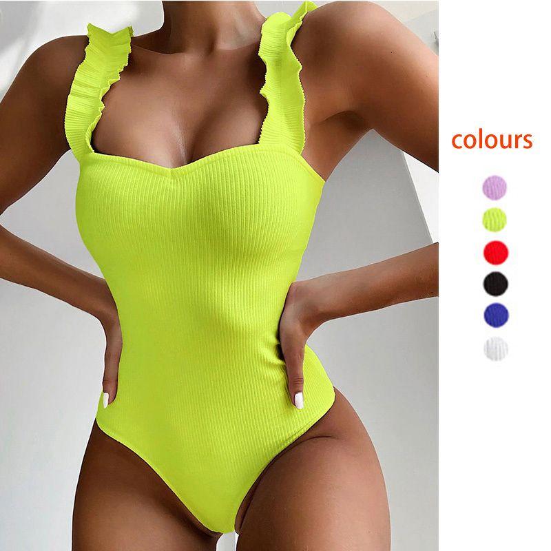 Bathing Batsuit Un vestito pezzo volant donne di monokini batsuits estate biquini Beachwear push up body up body up Bikini Bikini brasiliano