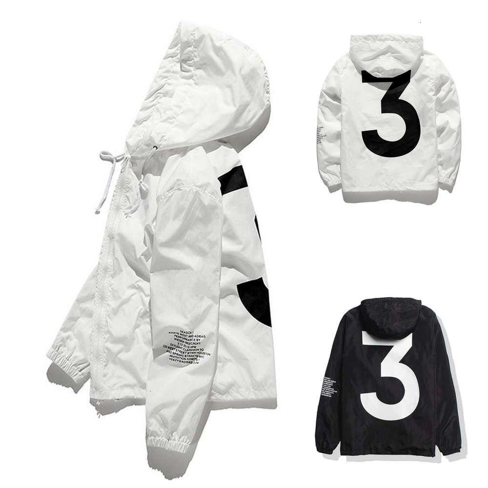 Top Verkauf Hohe Qualität Herren Kanye Westjacke Hip Hop Windjacke Mode Designer Jacken Männer Frauen Streetwear Oberbekleidung Mantel