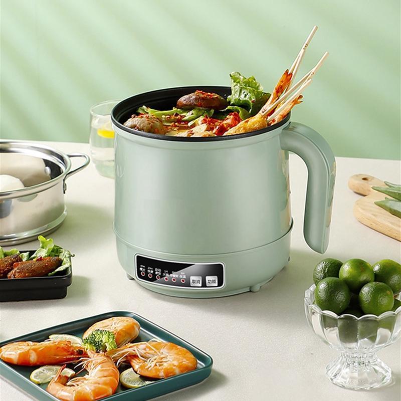 Família multicooker elétrico frigideira de aço inoxidável arroz fogão hotpot macarrão sopa pote ovos vapor aquecimento panela