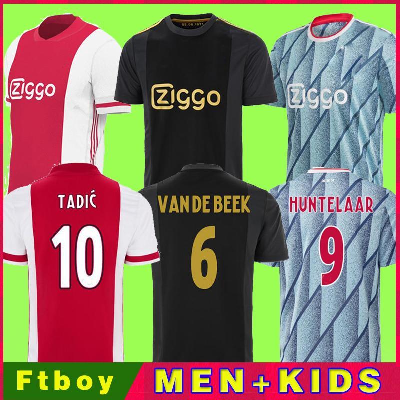 20 21 Ajax Amsterdam Soccer Jersey FC 2020 2021 Kudus Antony Promes Promes Tadic Neres Cruyff Homens Kit Kit Kit Futebol Camisa Uniformes Terceiro 50
