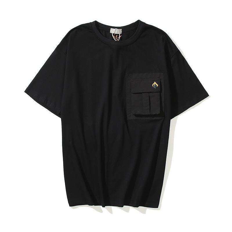 Männer Tasche Casual T-shirts Designer T-shirt Rundhals-Stylist T-Shirts Männer Schwarz Streetwear Herren Tops Z096