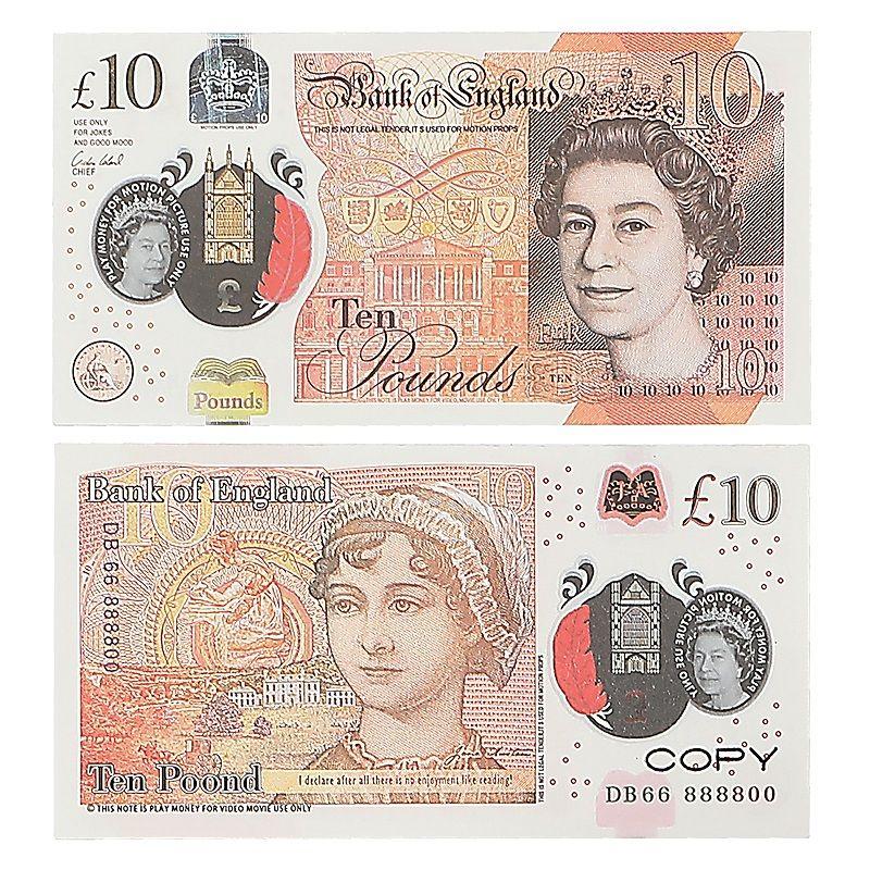 Prop-Geld-Kopie UK-Pfund GBP Bank 10 20 50 Anmerkungen Extra Bank Strap - Filme spielen gefälschte Casino Foto-Stand