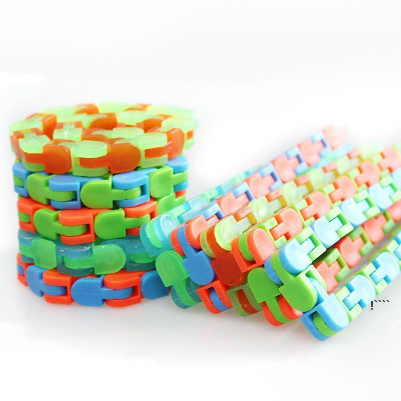 Wacky Tracks Snap and Click Fidget Toys Snake Puzzles Tangle Fidget Toys for Kid Adult Children Adhd Autism Stress Relief