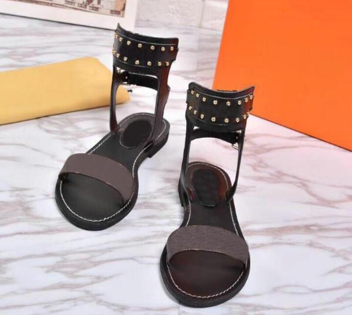 Femmes Sandales Été Apparts Sexy High Gladiateur Sandales Sandales Femmes Casual Appartements Chaussures Dames Plage Sandales Roman Roman No54789