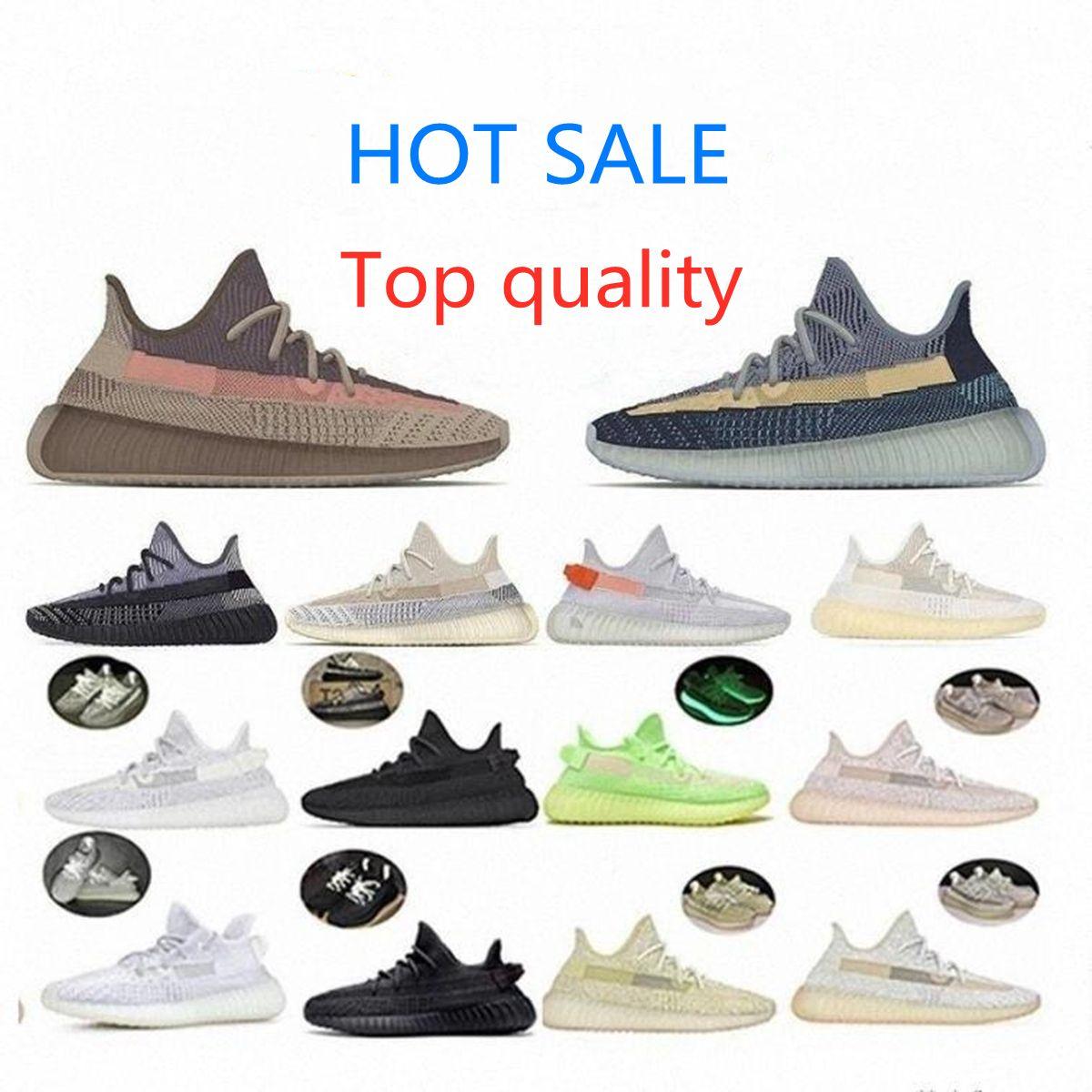 Высокое качество 2021 Kanye West Men Женщины запускают Обувь ISRAFIL Черный Земля Асриэль Зебра черные белые Статические мужские кроссовки Спортсмер 36-45