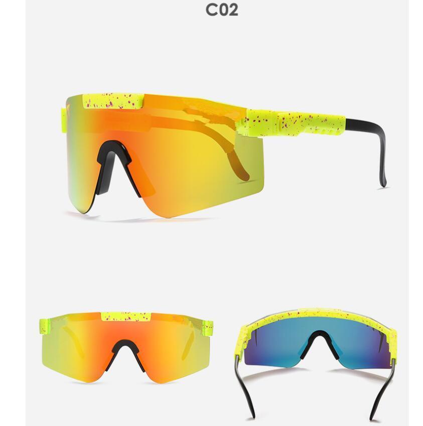 Gafas de montaje a prueba de viento de gran marco de marco Gafas de sol polarizadas coloridas 21s