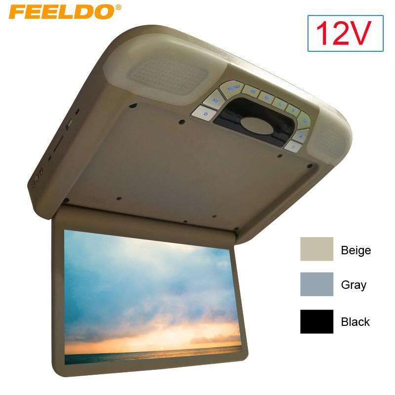 """Bus de voiture DC12V DC12V 14.1 """"Moniteur TFT LCD de la mont de toit avec lecteur DVD intégré FM USB SD Slot 3-Couleur # FD-4101"""