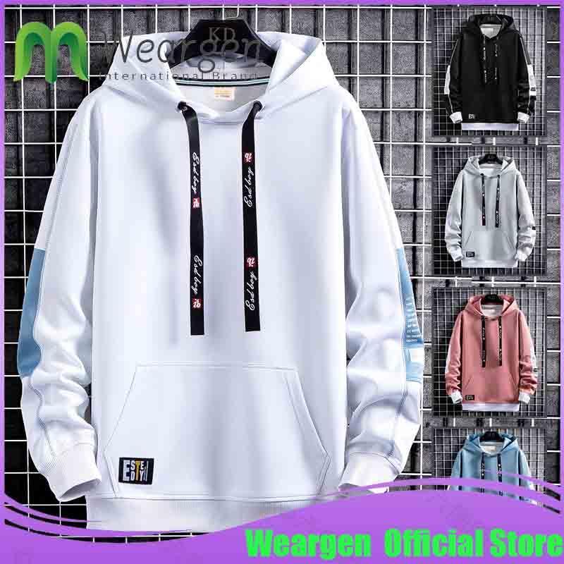 Felpe con cappuccio da uomo Weargen Men Harajuku Style Casual Hooded Mens Felpa con cappuccio Fashion Streetwear maschile Pullover Abbigliamento WY8310
