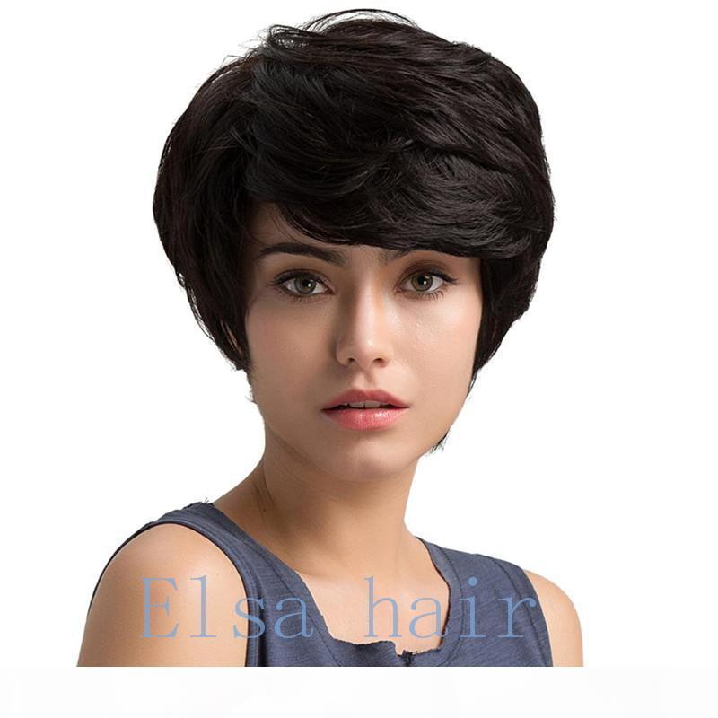 뜨거운 판매 브라질 밥 컷 가발 인간의 머리카락 밥 전체 가발 흑인 여성 짧은 밥 없음 레이스 가발 털없는 전체 레이스 가발 인간의 머리 가발