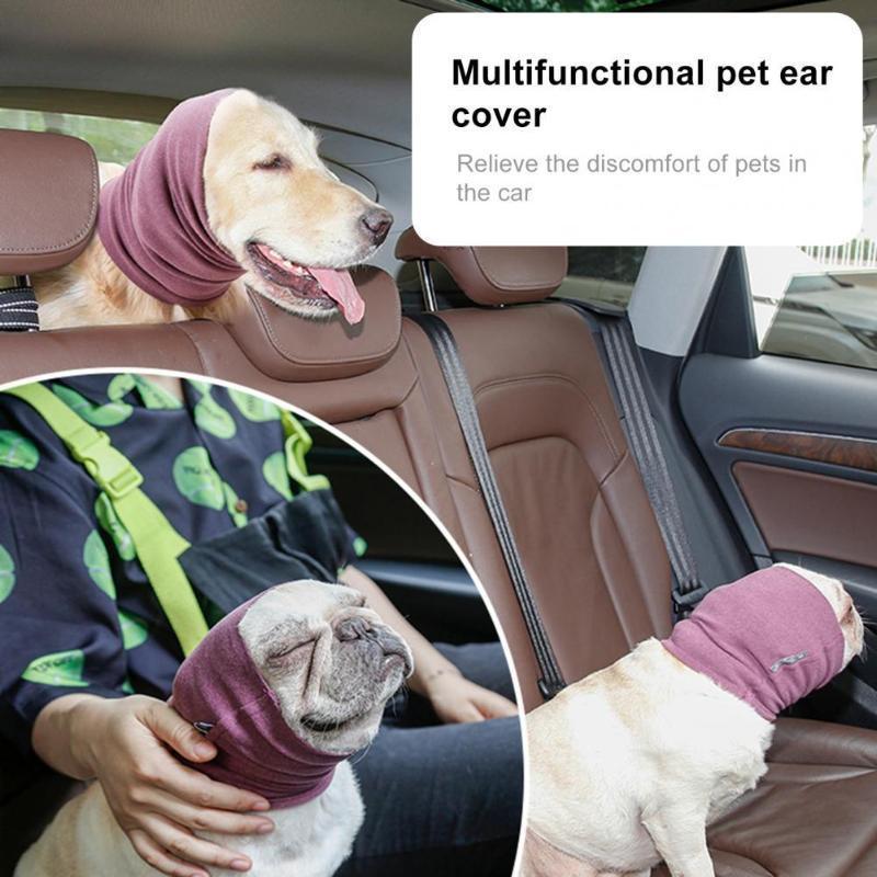 Abbigliamento per cani Minimalistic Universal Pet Pet Earmuff Turban Poliestere Cucciolo di Poliestere Elastici per esterni