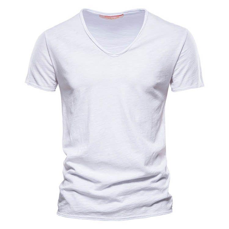 T-shirt da uomo con scollo a V Moda Design Slim Fit Soild T-Shirt Casual Tops Tees T-shirt da donna BAGGY T-shirt