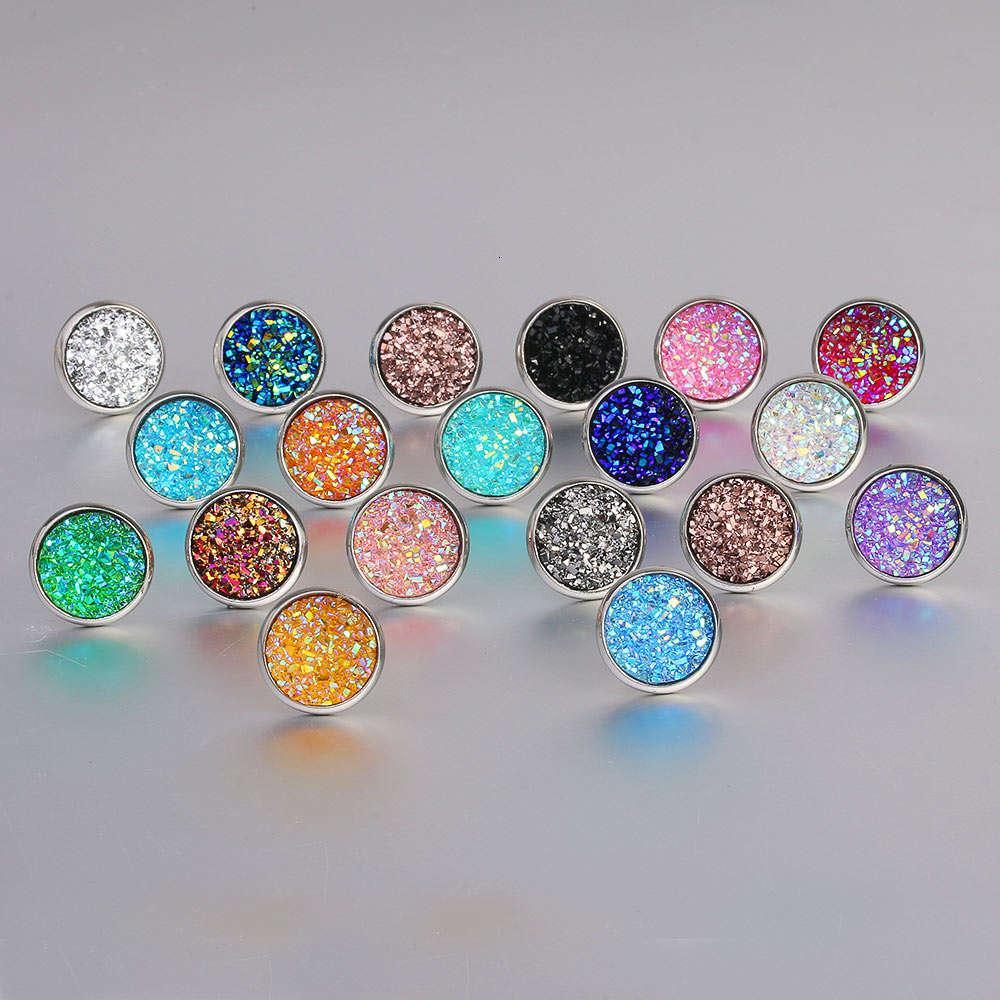 Moda Imitação Stone Cristal Stud Brinco Rodada Gypsophila Druzy Brincos para Mulheres 16 Cores Noivado Casamento Jóias Presentes