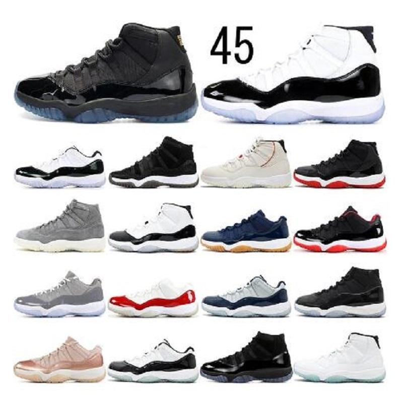 Новые 11s Новые дешевые 1 1S Compred 11 11s Обувь Мужской jumpman Баскетбольные Обувь Сосна Зеленый Черный Кот Конкорд Спортивная обувь