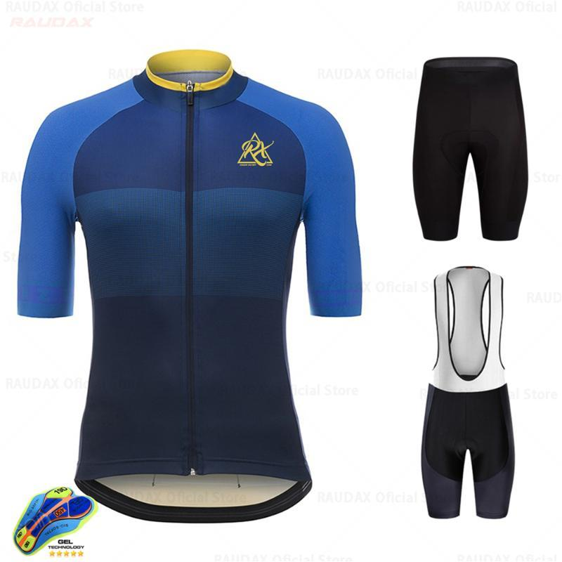 Yarış Setleri Raudax Bisiklet Forması 2021 Pro Takım Rx Kısa Kollu Giyim Kiti MTB Bisiklet Giyim Triathlon Lets