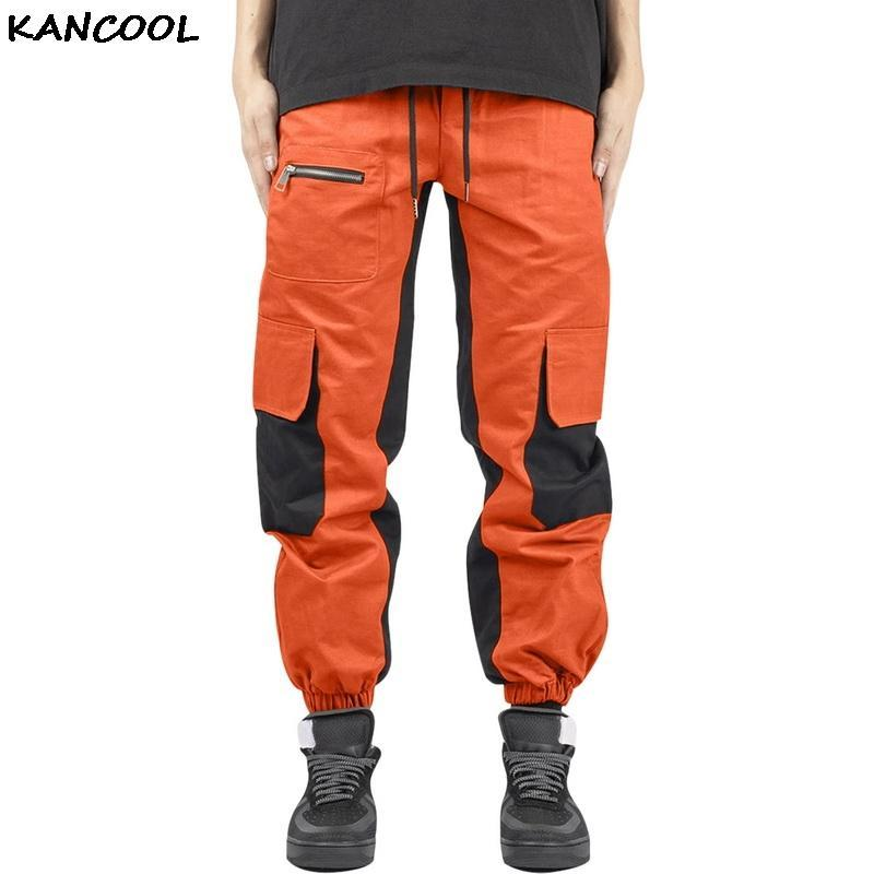 2021 New Cargo Pants Spring Men High Street Popular Logo Multi-pocket Casual Pants Fashion Thickened Small Leg