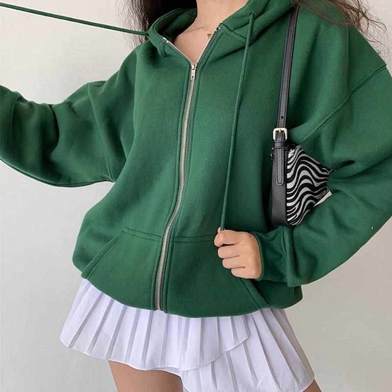 Women's Hoodies & Sweatshirts Calelinka Oversize Girls Thick Autumn Fashion Women Streetwear Fleece Outfits Casual Cute Hooded Coats