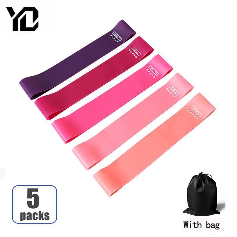 5 цветов сопротивления полосы устойчивости фитнес оборудование для тренажерный зал йоги тренировки эластичные полосы сопротивления полосы сопротивления крытый открытый фитнес C0224
