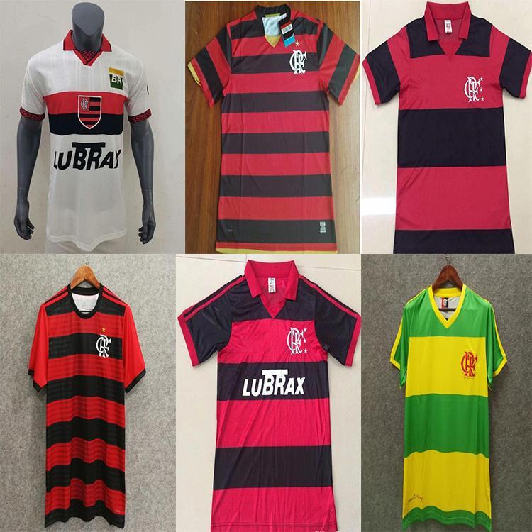 Promoção1978 1979 1982 1988 1990 1995 1996 2009 2009 Retro Cr Flamengo Soccer Jersey Romario Vintage Flamengo Futebol Camisa