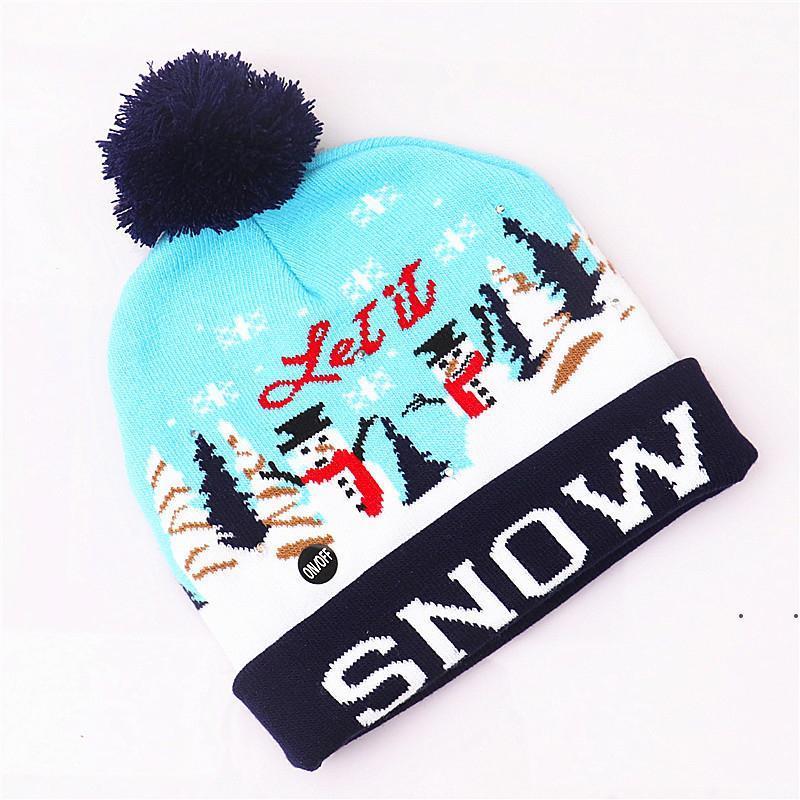 Decorazioni di Cappelli di Natale per adulti e bambini colorati colorati luminosi a maglia di fascia alta Santa Claus Hat RRF8347