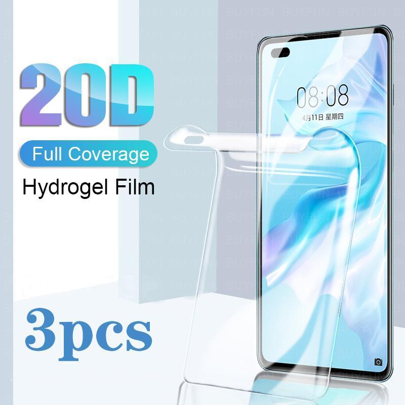 Защитная защита экрана сотовых телефонов 3 шт. Закаленное стекло для Huawei P40 Lite E Protector P40Lite Litee P 40 Huweip40 Защитная пленка