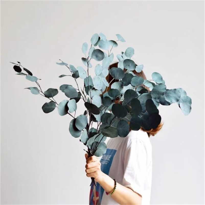 110g / lot, 자연 보존 된 유칼립투스 꽃다발, 웨딩 홈 장식 액세서리, 디스플레이 꽃 210317에 영원한 말린 꽃