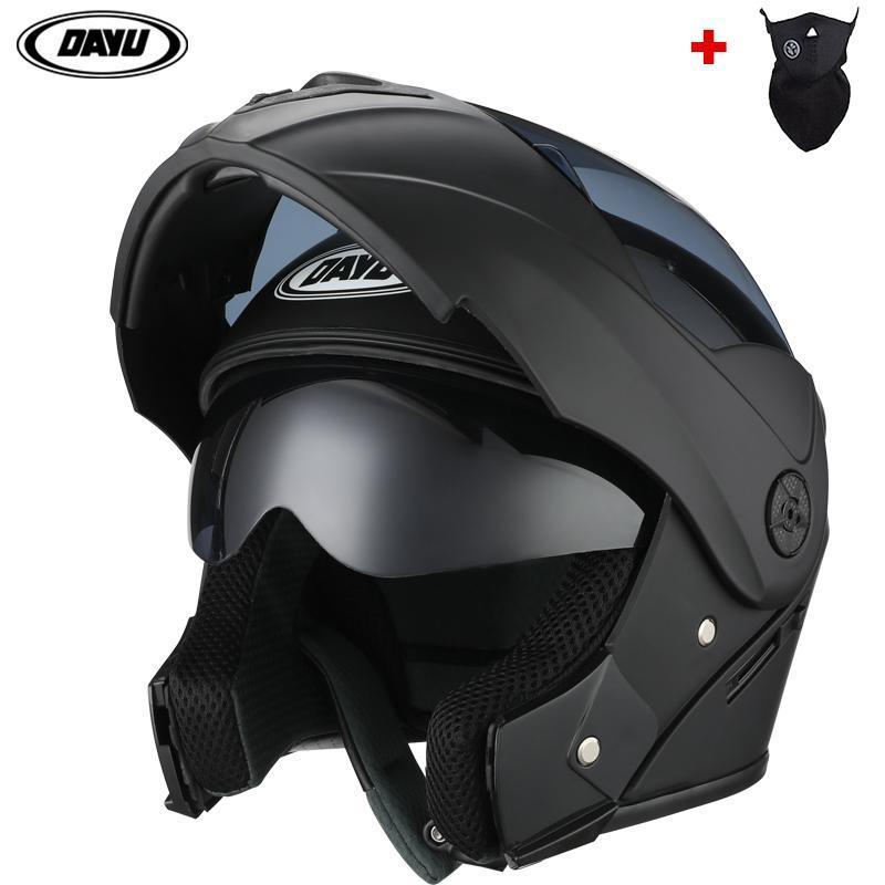 دراجة نارية الخوذ 2021 1 هدية للجنسين سباق motobiker motobiker وحدات عدسة مزدوجة خوذة وجه كامل آمن فليب حتى cascos para moto