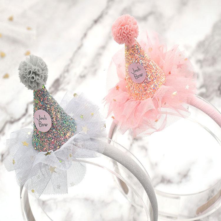 Детские аксессуары Один год Старая шляпа Crown Baby Princess Прекрасная пряжа голова полосы волос
